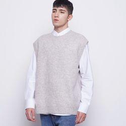 M17 CC round wool knit vest otmil