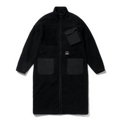 BLEND OVERSIZED FLEECE COAT BLACK