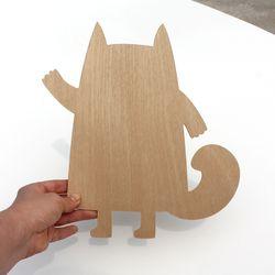 우드아트꾸미기 - 고양이 (W588) 컬러링 미술놀이