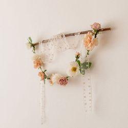 로맨틱 플로라 가랜드 벽장식 인테리어조화