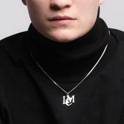 로코모티브 시그니처 로고 목걸이 실버 LCM necklace