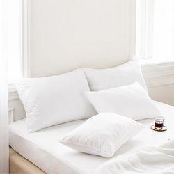 국내산 지퍼형 호텔 구름 기본 일반 베개 솜 40X60 50X70