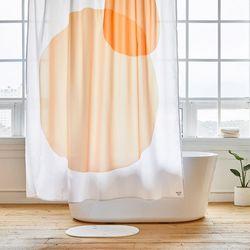 팔레트 욕실 샤워커튼 디자인 패브릭 방수 가림막 커텐