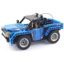 27Mhz 블록테크닉 자동차 2in1 블록RC 353pcs 블루