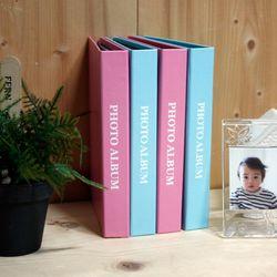 미니 파스텔 4x6인치 블랙 포켓앨범 4권세트