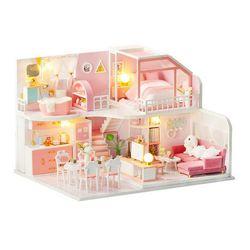 [adico]DIY 미니어처 하우스 - 핑크 래빗 하우스