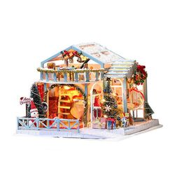 [adico]DIY 미니어처 풀하우스 - 화이트 크리스마스
