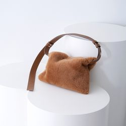 TWO WAY SHOULDER MUSTANG BAG CAMEL