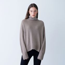 TURTLENECK PULLOVER BEIGE