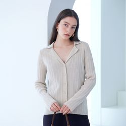 OPEN COLLAR KNIT IVORY