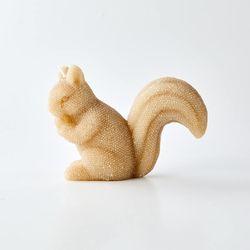 골드 글리터 다람쥐 캔들 H11cm