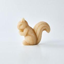골드 글리터 다람쥐 캔들 H8cm