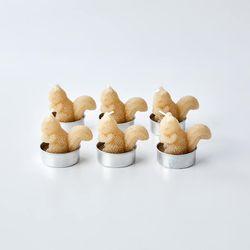 골드 글리터 다람쥐 6P 티라이트 캔들
