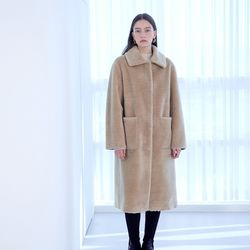 CLASSIC LONG MUSTANG COAT BEIGE