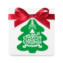 (인디고샵)그린 크리스마스 트리 [텍] (10개)