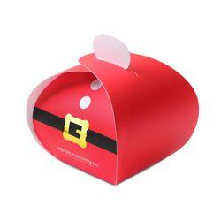 (인디고샵)[금박] 배불뚝이 산타 보자기 상자 (2개)