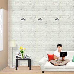 홈트너 붙이는 인테리어 단열벽지 제로아이 3D브릭 2.5m