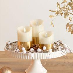 리얼왁스 골드 LED 캔들 초 촛불 은은한분위기