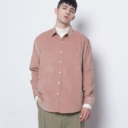M201 coduroy over shirts pink