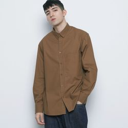 M421 so basic cotton over shirts camel