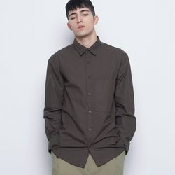 M421 so basic cotton over shirts brown
