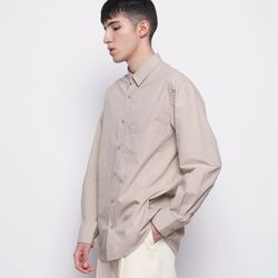 M421 so basic cotton over shirts beige