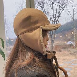 무스탕 귀도리 겨울 군밤 귀달이 모자 3color