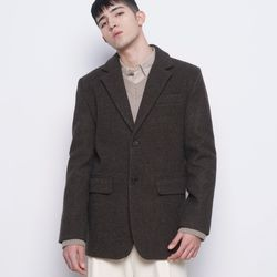 M35 wool single over jacket brown