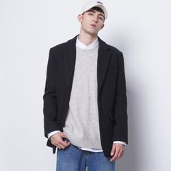 M35 wool single over jacket black