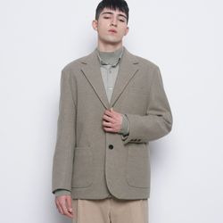 M08 bos wool knit jacket khaki