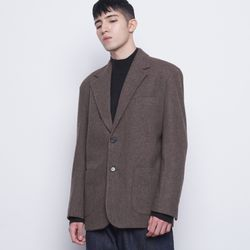 M08 bos wool knit jacket brown