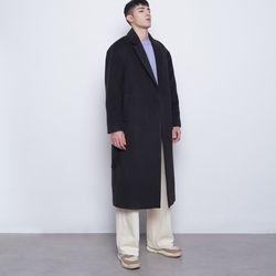 M44 wool iong coat black
