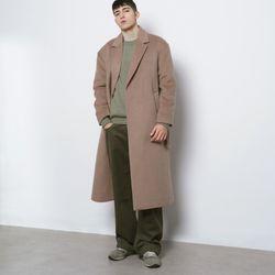 M44 wool iong coat beige