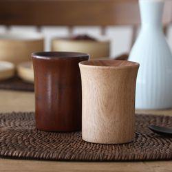 오반자이 우드 물컵 원목 나무그릇 나무컵 (2color)