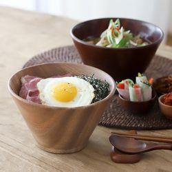 오반자이 우드 면기 원목 나무그릇 우동기 (2color)