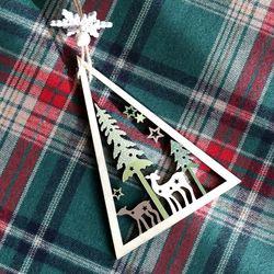 포홈 크리스마스 사슴 행잉 장식