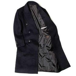 MAN winter 네이비 DOBLE 울 long coat CH1672183