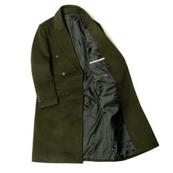 MAN winter 카키 DOBLE 울 long coat CH1672182