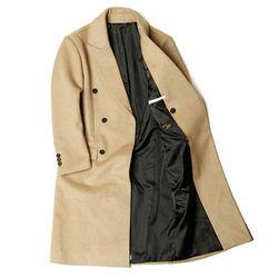MAN winter 베이지 DOBLE 울 long coat CH1672180