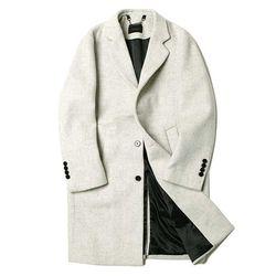 MAN winter 큐브 체크 패턴 long coat 2color