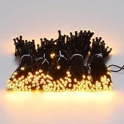 LED 검정선 트리전구 300구 황색 (전원코드포함)