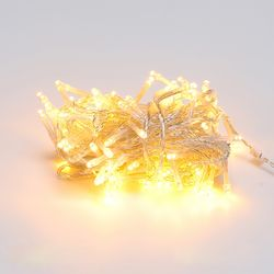 LED 투명선 트리전구 96구 황색 (전원코드포함)