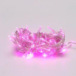 LED 투명선 트리전구 96구 핑크색