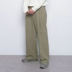 M48 half band wide cotton pants khaki