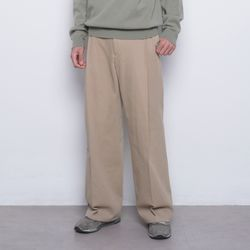 M48 half band wide cotton pants beige
