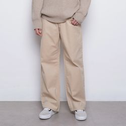M765 pitch wide pants beige