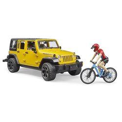 지프 루비콘과 산악용 자전거 세트