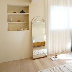 [모아이] 노프레임 심플 아치형 전신거울 1800600(착불)