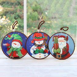 크리스마스 원형 냄비받침 3종