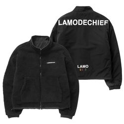 LAMO REVERSIBLE FLEECE (BLACK)
